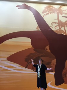 Vickie and Dinosaur