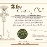 """21st Century Club"" certificate"