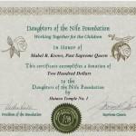 """""""GOLD"""" certificate"""