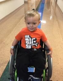 orange shirt wheelchair