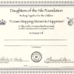 """""""Crown Stepping Stones to Happiness"""" – In Honor"""