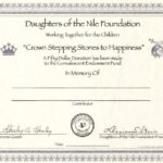 """""""Crown Stepping Stones to Happiness"""" – In Memory"""